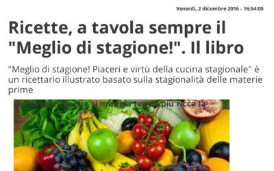 Meglio di stagione!, Affaritaliani.it, 02.12.2016