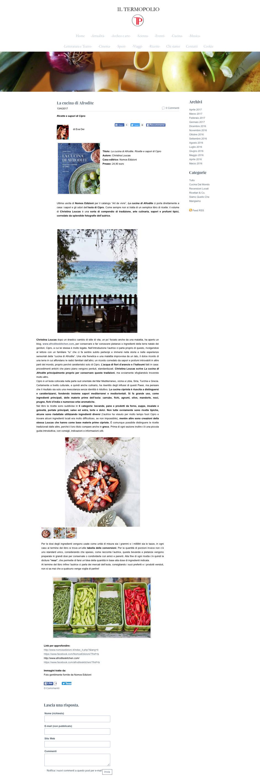 La cucina di Afrodite, iltermopolio.com, 13.04.2017