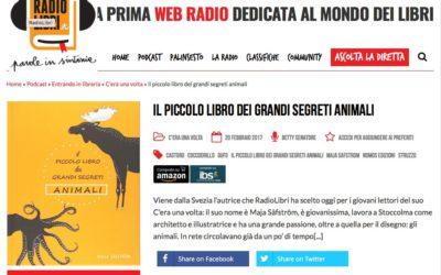 Il piccolo libro dei grandi segreti animali, Radiolibri.it, 20.02.2017