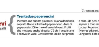 Peperoncini, La lettura – Corriere della Sera, 27.12.2015