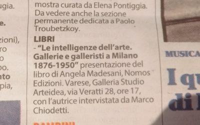 Le intelligenze dell'arte, La Repubblica – Milano, 25.03.2017