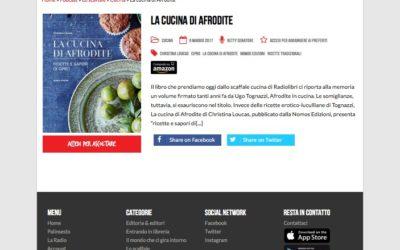 La cucina di Afrodite, Radiolibri.it, 9 maggio.2017