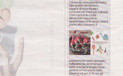 Peperoncini, Corriere della sera, 15.01.2016
