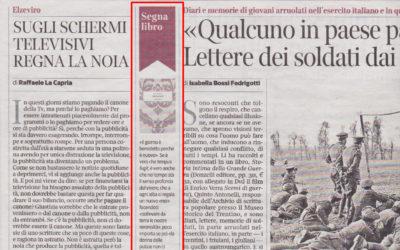 Vivo così, Corriere della sera, 20.02.2015