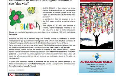 Le mie due vite, informazioneonline.it, 10.12.2015