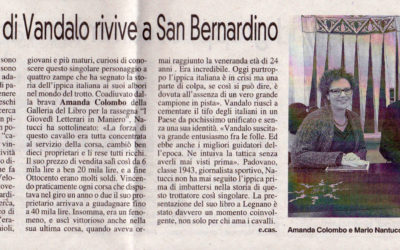Veloce come Vandalo, La Prealpina, 31.1.2015