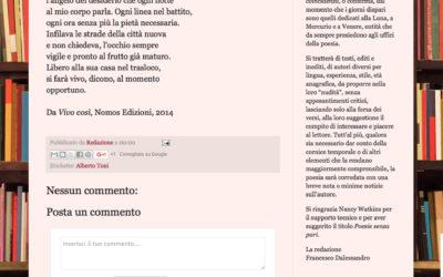 Vivo così, poesiesenzapari.blogspot.com, 15.02.2016