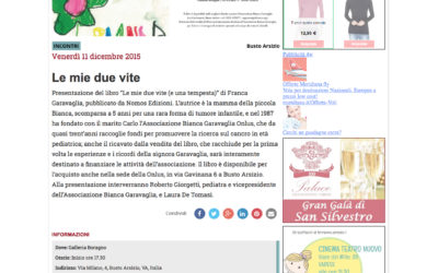 Le mie due vite, varesenews.it, 11.12.2015