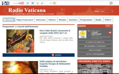 Vivo così, Radio Vaticana – I giochi dell'armonia, 19.05.2015
