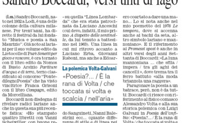 Partiture d'acqua e di terra, Corriere di Como, 30.08.2012