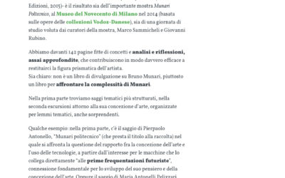 Munari Politecnico, panorama.it, 07.02.2016