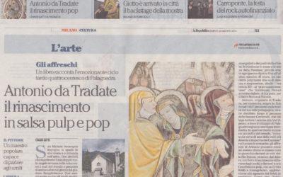 Gli affreschi di Antonio da Tradate in San Michele a Palagnedra, La Repubblica – Milano, 29.08.2015