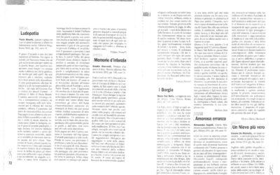 Partiture d'acqua e di terra, Studi cattolici, gennaio.2013