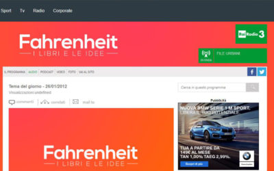 Verità e bellezza, Rai Radio 3 – Fahrenheit, 26.01.2012