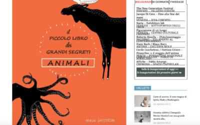 Il piccolo libro dei grandi segreti animali, artribune.com, 20.08.2017