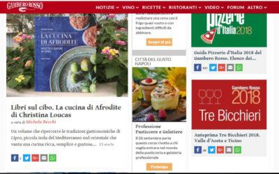 La cucina di Afrodite, gamberorosso.it, 21.09.2017