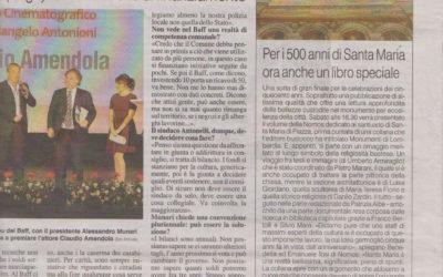 Santa Maria di Piazza in Busto Arsizio, La Prealpina , 2.11.2017