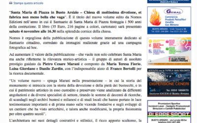 Santa Maria di Piazza in Busto Arsizio, informazioneonline.it, 3.11.2017