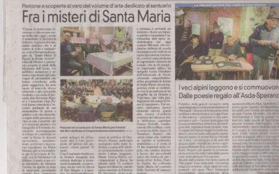 Santa Maria di Piazza in Busto Arsizio, La Prealpina, 5.11.2017