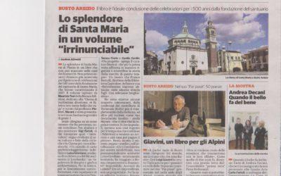 Santa Maria di Piazza in Busto Arsizio, La Provincia di Varese, 5.11.2017