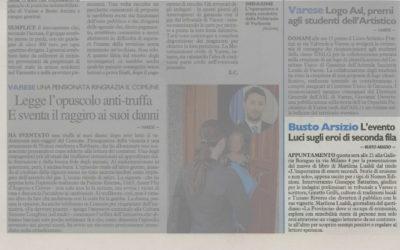 L'importanza di essere secondi, Il Giorno – Varese, 20.11.2012