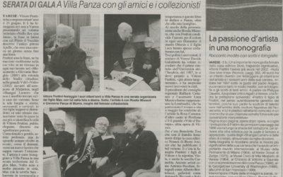 Vittore Frattini. Nulla dies sine linea, La Prealpina, 23.11.2017