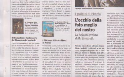 Santa Maria di Piazza in Busto Arsizio, Il giornale dell'arte, gennaio.2018